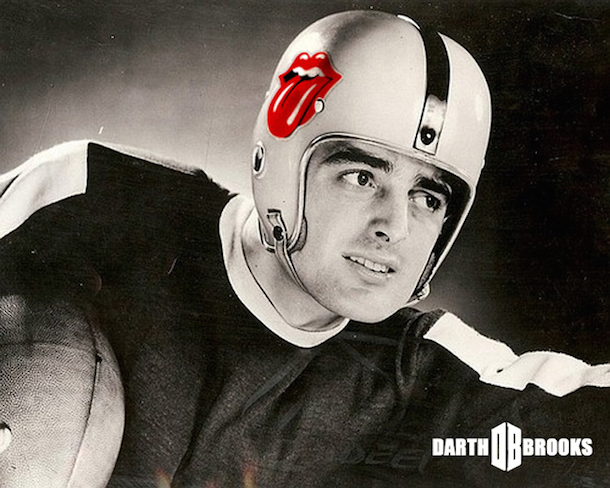 rock and roll football helmets rolling stones
