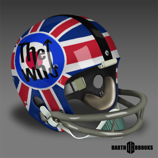 rock and roll football helmets the who