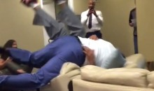 Shaq and Charles Barkley Wrestle in the 'NBA on TNT' Green Room to Kill the Ennui (Videos)