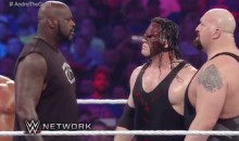 Shaq Makes Surprise Appearance at WrestleMania, Choke Slams Kane in His Size 22 Reebok Shaqnosis (Video)