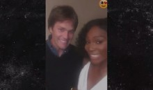 Serena Williams Goes All Fan Girl When She Meets Tom Brady (Video)