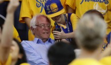 Bernie Sanders Was Sitting Not-Very-Courtside at Warriors-Thunder Game 7 (Pics)