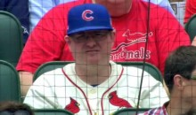 World's Biggest Douchebag Wears Cardinals Jersey, Cubs Hat (Pic)