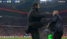 Atletico Madrid Coach Diego Simeone Smacked a UEFA Official on the Sideline (GIF)