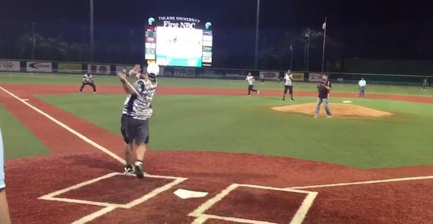 Drew Brees softball home run