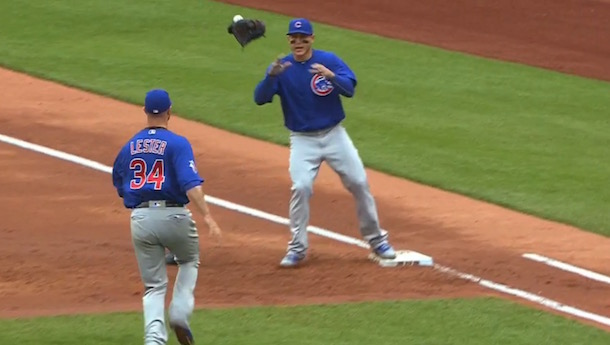 Jon Lester Throw Glove First Base