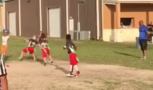 This Tiny Flag Football QB Has a Cannon for an Arm (Video)