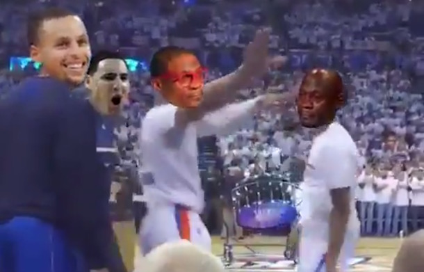 Russell Westbrook Crying Jordan Dance