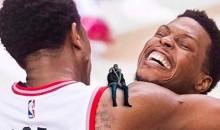 Drake's Meme-ing Himself in Celebration of Raptor's Game 7 Win (Pic)