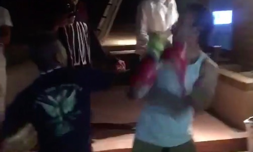 backyard boxing knockout