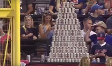 Cleveland Indians Fans Build Epic Beer Pyramid During Game (Video, PICS)