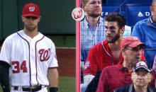 There Was a Bryce Harper Doppelgänger Sitting Behind Home Plate at the Nats Game on Monday (Video)