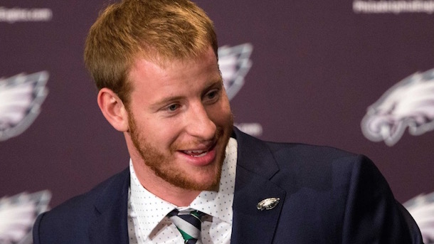 carson wentz throws shade sam bradford eagles press conference