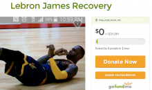 Fan Creates GoFundMe To Help LeBron James After Inadvertent Elbow From Teammate