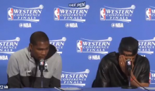 Russell Westbrook Laughs When Asked If Steph Curry Was An Underrated Defender (Video)