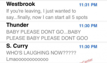 Kevin Durant's Text Messages Released After OKC Choked Away 3-1 Series Lead (PIC)