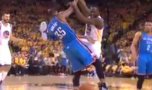 Draymond Green Was Kicking Again in Game 5, And This Time He Almost Caught Kevin Durant in the Head (Video)