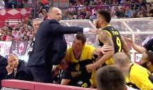 Greek League Basketball Coach Almost Fights Player…During Game (Video)