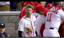 "Bryce Harper Screaming ""F*ck You"" To An Umpire While Celebrating A GW Home Run (Video)"