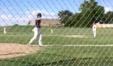 8th Grader Celebrates Home Run with Sky-High Bat Flip + the Running Man (Video)