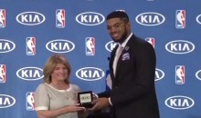 Karl-Anthony Towns Donates Car He Won for Rookie of the Year to Cancer Charity in Honor of Late Flip Saunders (Video)