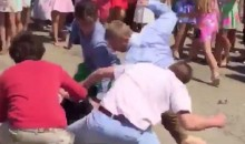 Frat Bros Duke It Out in Pastel Polos and Boat Shoes in Epic Kentucky Oaks Brawl (Videos)