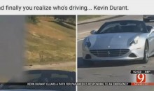 Kevin Durant Uses His Ferrari to Clear Path for Emergency Vehicles (Video)