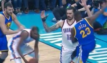 "Draymond Green Kicks Steven Adams in the Groin, Russell Westbrook Thinks ""It's Intentional"" (Videos)"