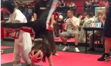 Who Does This Little Kickboxer Think She Is With Her Cartwheel Kick? (Video)