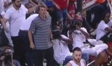 These Fired-Up Heat Fans Didn't Realize a Dunk After a Whistle Doesn't Count (Video)