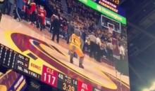 Even the Cavs Mascot Was Draining Long-Distance Bombs Last Night (Video)
