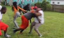 Mothers vs Sons Tackle Football Game: The Weirdest Way You Could Possibly Celebrate Mother's Day (Video)