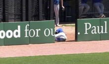 Minor Leaguer Runs Through Outfield Bullpen Door to Make an Amazing Catch (Video)