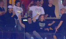 Steph Curry's Mom Celebrates Son's 3 with Random Guy in Suite: Internet Reacts (Video)