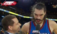 Steven Adams Uses A Poor Choice Of Words When Describing The Warriors 'They're Quick Little Monkeys' (Video)