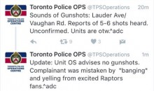 The 'Gunshots' Toronto Police Responded To Were Just Excited Raptors Fans (Tweet)