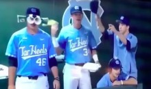 UNC Tarheels Players May Be Having TOO Much Fun in the Bullpen (Video)