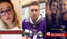 """Vikings Fan"" and ""Mystery Girl"" Star in UW Madison Snapchat Love Story (Video)"