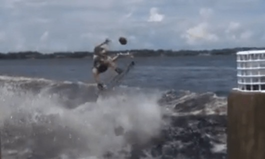wakeboard football catch