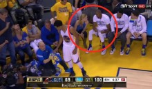 Andre Iguodala Was Chatting Up a Blonde Chick on the Bench DURING Game 2 (Video)