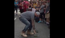 Gross!!! Cavs Fan Eats Horse Sh*t During Championship Parade (Video)