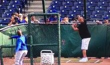 Charles Barkley's Baseball Swing is Horrendous (Video)