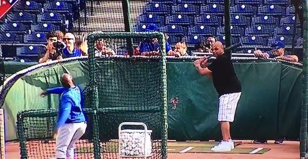 Charles Barkley Batting Practice