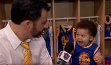Jimmy Kimmel Interviews With 'Stuff Curry' and Baby LeBron (Video)