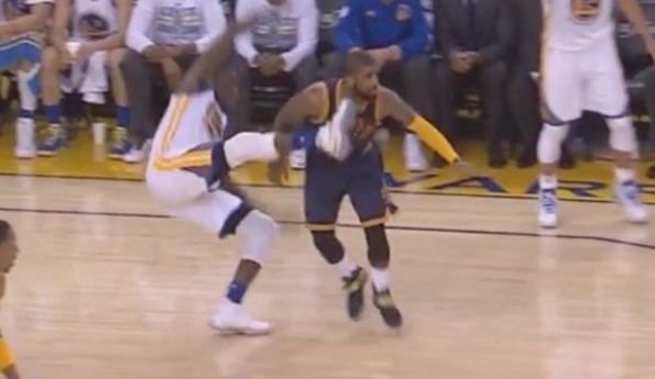 Draymond Green Kick Kyrie Irving