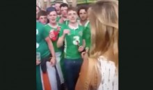 "Irish Soccer Fans Serenade French Smokeshow With ""Can't Take My Eyes Off Of You"" (Video + Pics)"