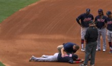 Indians' Juan Uribe Suffers 'Testicular Contusion' After taking Grounder to the Groin (Video)
