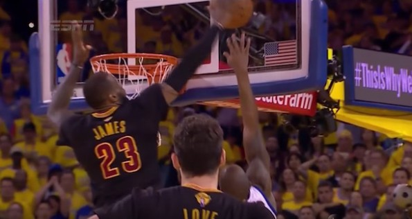 LeBron James Block Iguodala