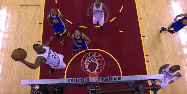 LeBron James alley-oop Finals Game 3