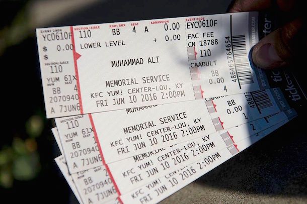 Muhammad Ali Memorial Tickets